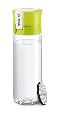 BRITA Fill&Go Bottle Filtr Lime Botella con - Filtro de Agua (Botella con Filtro de Agua, Cal, Transparente, De plástico, De plástico, 1 L, Alemania)