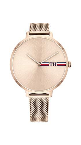 Tommy Hilfiger Damen Analog Quarz Uhr mit Edelstahl Armband 1782158 - Damen Movado Uhren