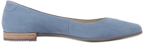 Ecco Damen Shape Pointy Ballerina Slipper Blau (Retro Blue)