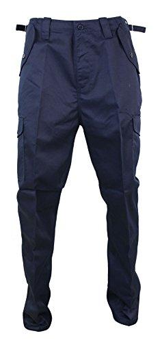 Pantaloni per Lavoro da Uomo Neri Blu Verdi o Blu Marino Stile Militare Cargo blu marino 32UK, 42IT