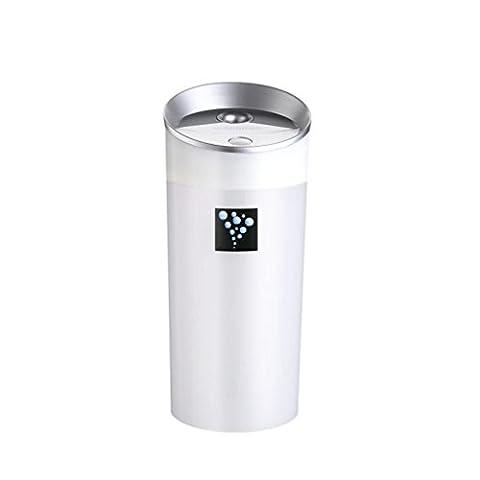 Hansee KFZ-Luftbefeuchter, Mini-Anionen, Fassungsvermögen 300ml, 2 Stunden Laufzeit, automatische Abschalt- und Startfunktion, USB-Ladegerät
