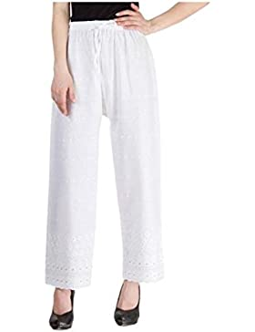 Indian Handicrfats Export Komal Trading Co Regular Fit Women's White Trousers