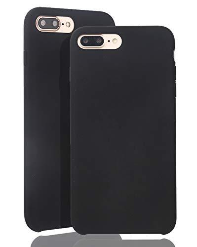 JMi [ Kompatibel mit Apple iPhone 7 Plus / 8 Plus, in Schwarz Originale Silikonhülle - Hochwertig, perfekte Verarbeitung - Schlichtes Silicone Case Iphone Silicon Case