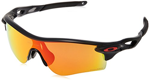 Oakley Men's Radarlock Path (a) Non-Polarized Iridium Rectangular Sunglasses, Matte Black Ink, 0 mm