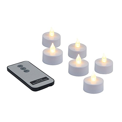 Juego de 6Flicker té luz LED con mando a distancia