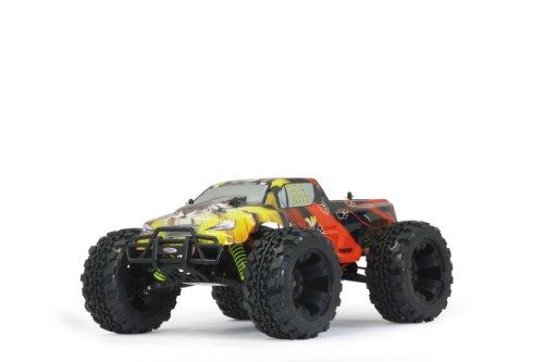 Jamara 503851 - Tiger Monstertruck 1:10 4WD NiMh 2.4GHz - Allrad, Elektroantrieb, Akku, 35Kmh, Aluchassis, spritzwasserfest, Öldruckstoßdämpfer, Kugellager, Fahrwerk einstellbar, fahrfertig - 2