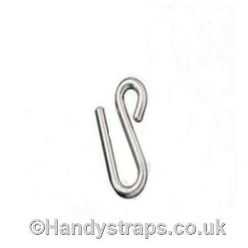 8mm x 75mm Long arm S Hook Stainless Steel Marine Grade Test