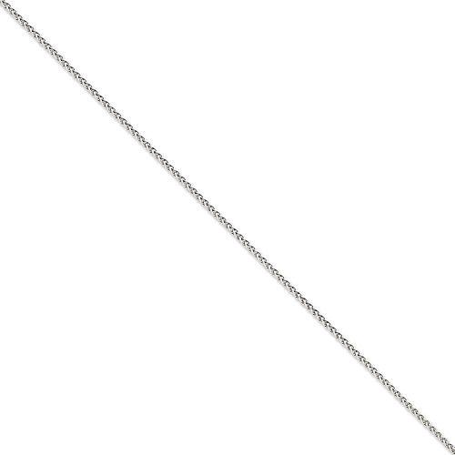 Or blanc 14carats massif 2,25mm Spiga chaîne bracelet-Fermoir-Longueur Options: 18-20