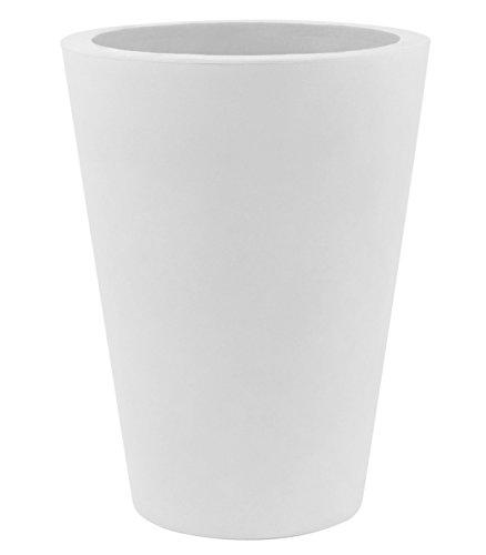 Vondom Trumptus A–Kegel mit hohem 18x 36cm Durchmesser, Basic, weiß - Matt Weißen Kegel