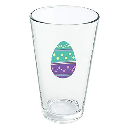 Mignon œuf de Pâques en verre trempé Motif pois Violet 454 ml