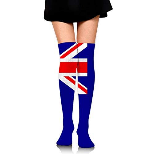 Jxrodekz Classic Over Knee High Socks Australian Flag 60cm Thigh High Stockings