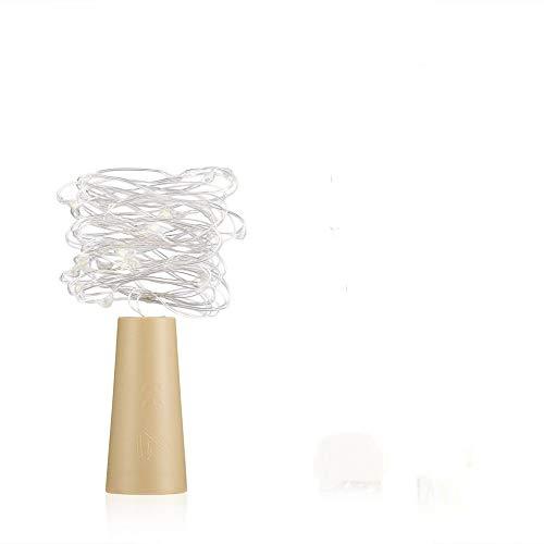 Cork Shaped Weinflasche Stopper String Lights 2 Meter 20 LEDs Silber Kupferdraht DIY Weihnachten Halloween Hochzeit Handwerk, 1