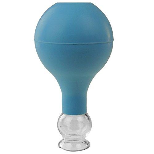 Pulox Schröpfglas aus Echtglas diverse Größen und Farben (25mm, blau)