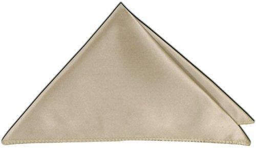 PABLO CASSINI Einstecktuch Edel Satin 27 x 27 cm Kavalierstuch Business Hochzeit- Mengenrabatt - 12 Farben zur Auswahl (Menge: 3 Stück, Sand Beige) (Anzug Sand 3 Stück)