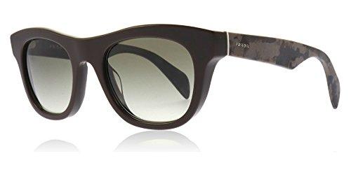 Prada Für Mann 04q Dark Brown / Green Gradient Kunststoffgestell Sonnenbrillen