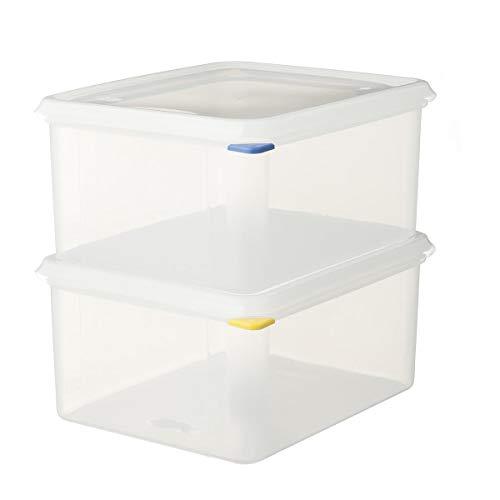2 x METRO Professional GN 1/2 Behälter mit Deckel | Höhe 150 mm | Vorratsbehälter | Frischhalteboxen | Polypropylen | HACCP | Spülmaschinengeeignet | Mikrowellengeeignet |