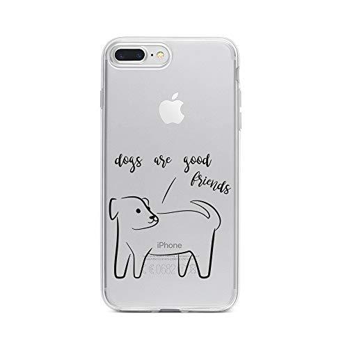 a15724d4872 licaso Apple iPhone 8 Plus Handyhülle Smartphone Apple Case aus TPU mit  Dogs Are Good Friends