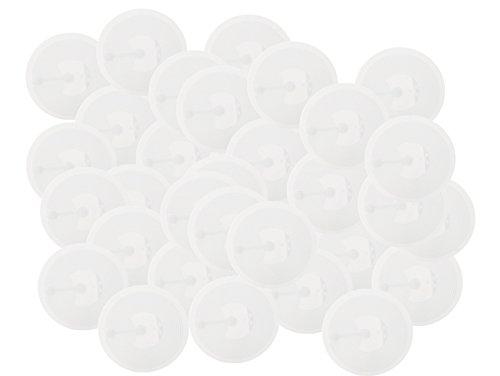NFC Tag Sticker-Aufkleber 215 wie u. a. in amiibo Figuren, 50 Stück in 30 mm weiß, 100% kompatibel , NXP NFC Chip NTAG 215