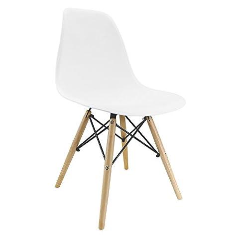 Chaise inspirée Tour Eiffel blanc pour les petits