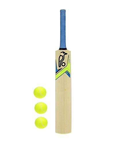 PMG wood Junior Cricket Bat Size 2 with 3 Tennis Balls for 6-7 year Kids (Sticker May Vary)