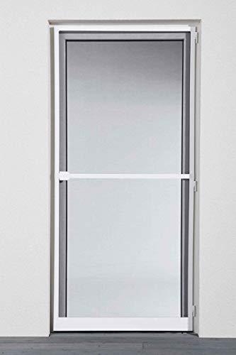 Powerfix Profi+ Alu Insektenschutz Tür SLIM 1x2,10m Natürlicher Insekten Schutz Weiß