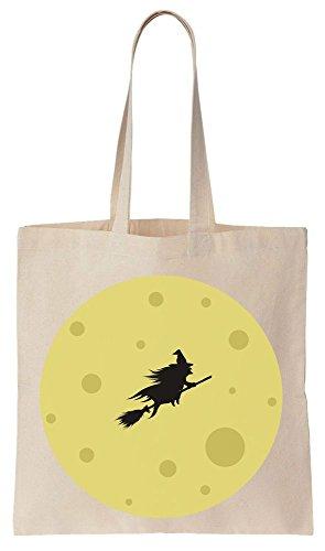 Moon Silhouette Cotton Canvas Tote Bag Baumwollsegeltuch-Einkaufstasche (Scary Halloween-silhouetten)
