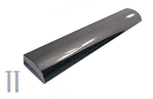 Möbelgriffe für Küchenschrank, Schranktür, Schublade, Hochglanz, Nickel, Schwarz - 160mm Hole Center - Polished Nickel Black -