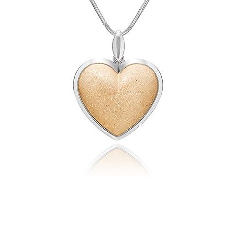 LillyMarie Damen massive Silberkette vergoldet Sterlingsilber Herz-Anhänger längen-verstellbar hochwertige Geschenkbox