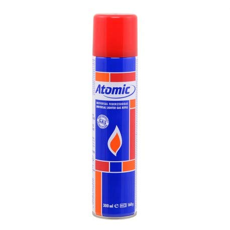 Atomic - ATOMIC BOMBOLETTA GAS BUTANO 300 ml RICARICA ACCENDINI - 0142013