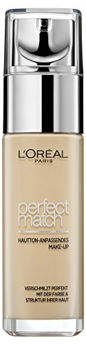 L'Oréal Paris Foundation Perfect Match, N1.5 Linen / deckendes Make Up - perfekte Verschmelzung mit dem Hautton & 24h Feuchtigkeit, 1er Pack (1 x 30 ml)