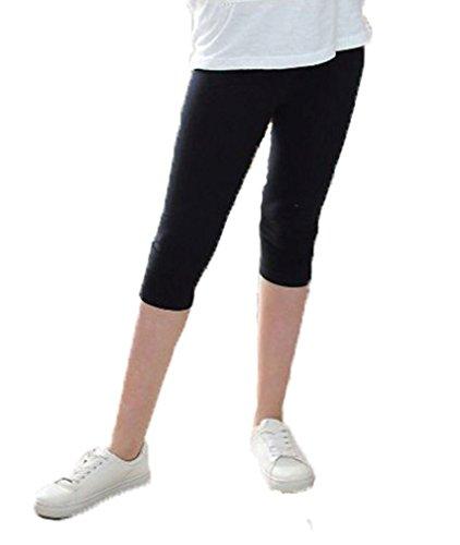 Mädchen Frühling Leggings Leggins 3/4 Capri hk330 152-158 Schwarz