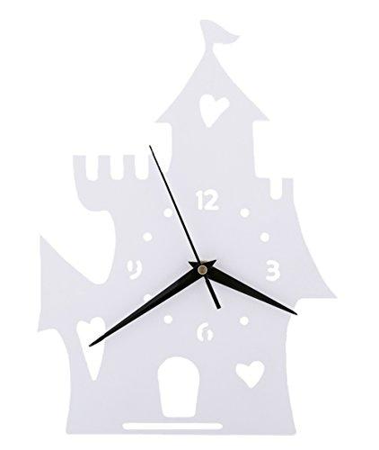 Maison Horloge murale Chambre d'enfant Chambre Horloge silencieuse Belle famille Décoration Boutique