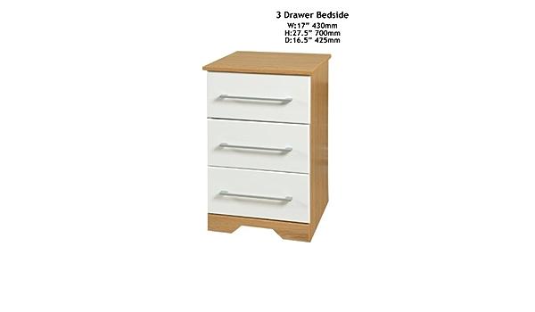 Chiltern White And Oak 3 Drawer Narrow Chest Amazon Co Uk Kitchen Home