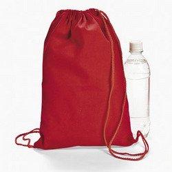 (Red Drawstring Backpacks (1 Dozen) - BULK)