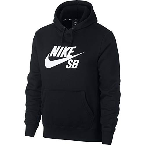 Nike Herren M NK SB ICON Hoodie PO ESSNL Sweatshirt, Black/White, XS Nike Winter Sweatshirt