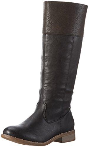 Rieker 95650, Stivali Alti Donna Nero (schwarz/basalt / 00)
