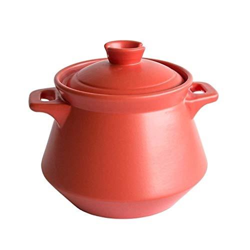 RMXMY Haushalt gas gas keramik eintopf keramik topf topf hochtemperatur feuer brühe suppe brei topf gasherd (multi-color optional) (Color : Red, Size : 5L)
