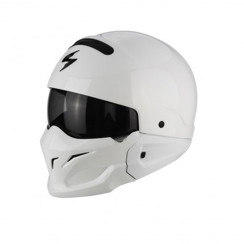 Scorpion Casco de motocicleta, color blanco, talla L