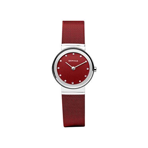 BERING Damen Analog Quarz Uhr mit Edelstahl Armband 10126-303