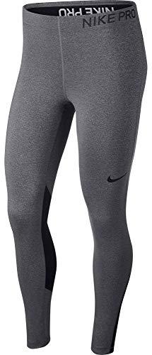 Nike Damen Pro Tight, grau (Charcoal Heather/Black), L -