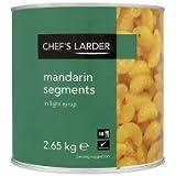 Chefs Larder Mandarin segments dans un sirop léger - 1 x 2,65 kg