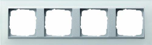 Preisvergleich Produktbild Gira 021450 Abdeckrahmen 4-fach für alu Event opak,  weiß