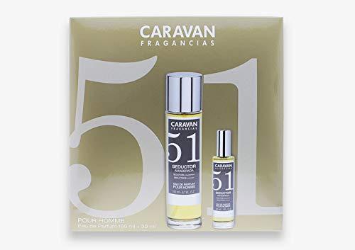 Caravan Fragancias Nº 51 Estuche de Regalo para Hombre Eau de Parfum Fragancia Frutal Amaderada (1 x 150 ml. + 1 x 30 ml.)