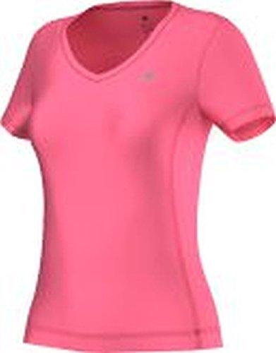 adidas T-Shirt Clima Essentials - Camiseta para mujer, color rosa/plat