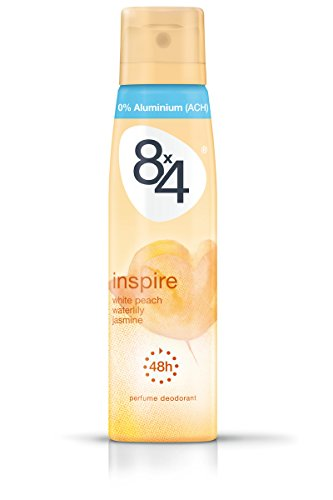8x4 Inspire Deo Spray, White Peach, Waterlily und Jasmine, 6er Pack (6 x 150 ml)