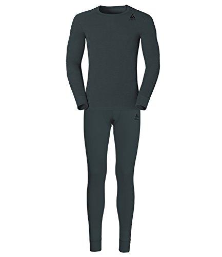 Odlo Herren Set Shirt l/s Pants Long Warm Unterwäsche, Ombre Blue, L
