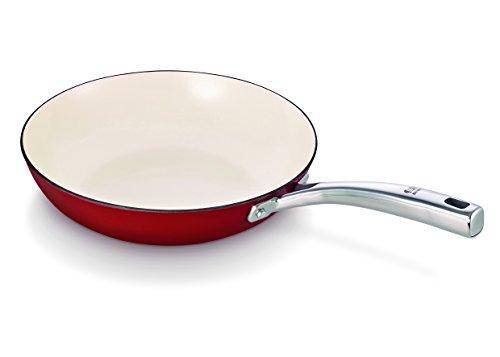 Beka 24 cm Arome Cast Iron Frying Pan, Red
