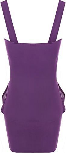 WearAll - Damen lange ärmellos Top - 17 Farben - Größe 36-38 Violett