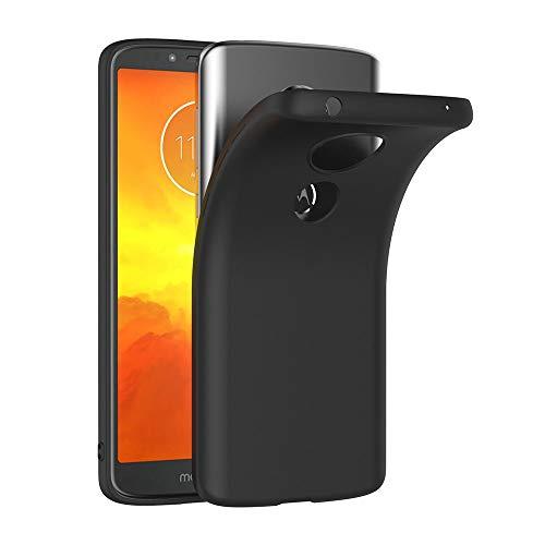 AICEK Moto E5 Hülle, Schwarz Silikon Schutzhülle für Motorola Moto E5 Case TPU Bumper Moto E5 Handyhülle (5,7 Zoll)