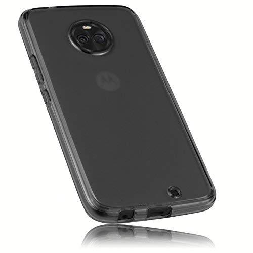 mumbi Schutzhülle für Motorola Moto X4 Hülle transparent schwarz